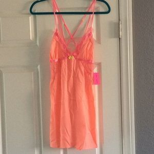 Betsey Johnson satin & lace slip